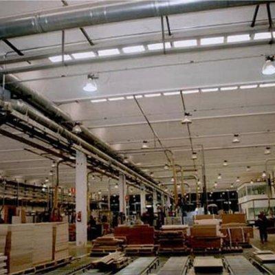 Blindoluce GLS 40A en pabellón industrial