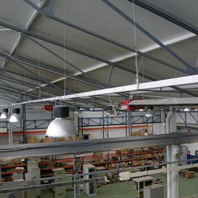 Blindoluce BLP 25A en nave industrial