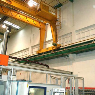 Blindotrolley 100A para grúa nave de producción