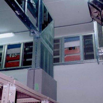 Blindoventilato 3000A Interconexiones en nave industrial
