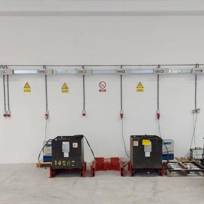Miniblindo 160A para cargadores de baterias (Nave logísitica en San Fernando de Henares)